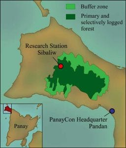 Map Sibaliw Research Tropical Station