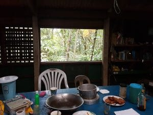 Kitchen table Sibaliw Research Station